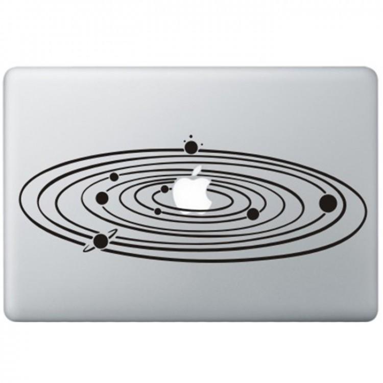 Milky Way MacBook Aufkleber Schwarz MacBook Aufkleber