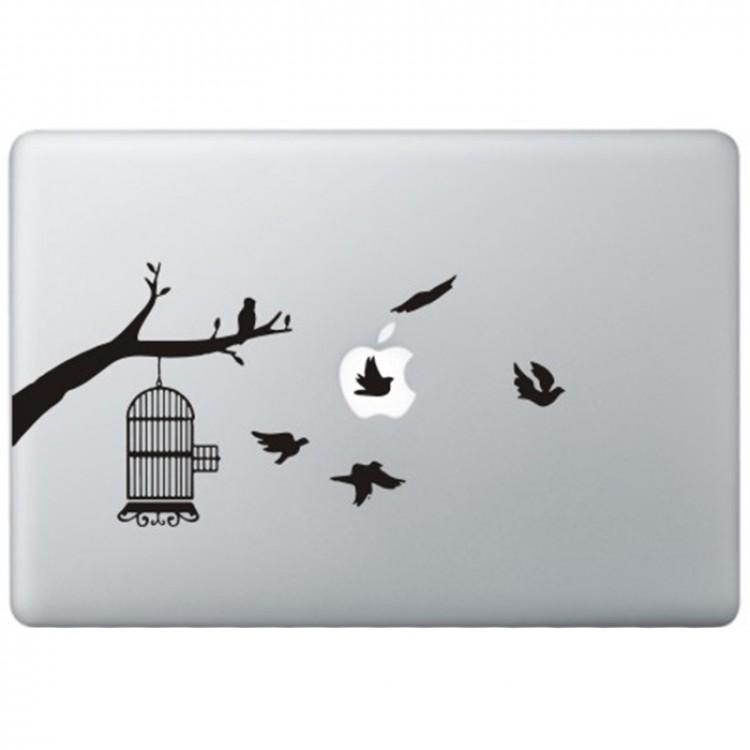 Vögel MacBook Aufkleber Schwarz MacBook Aufkleber