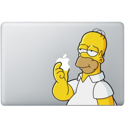 Homer Simpsons MacBook Aufkleber