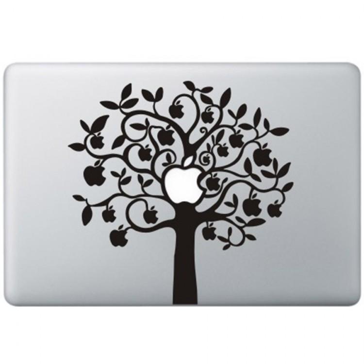 Apple Baum ( 2 ) MacBook Aufkleber Schwarz MacBook Aufkleber