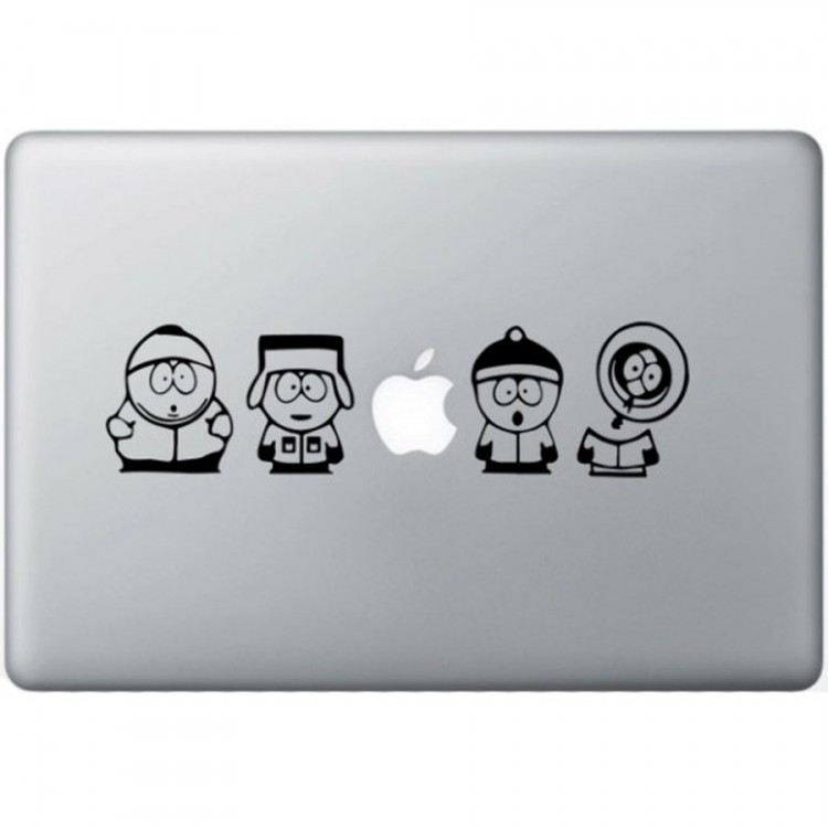 South Park MacBook Aufkleber Schwarz MacBook Aufkleber