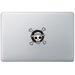 One Piece Monkey Logo MacBook Aufkleber