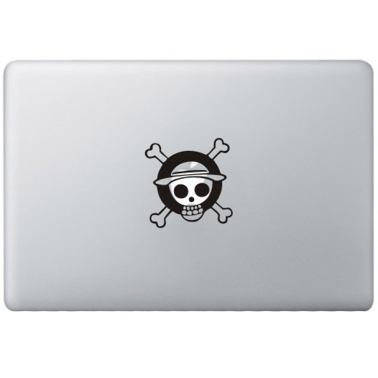 One Piece Monkey Logo MacBook Aufkleber Schwarz MacBook Aufkleber