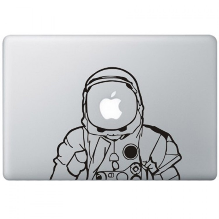 Astronaut MacBook Aufkleber Schwarz MacBook Aufkleber