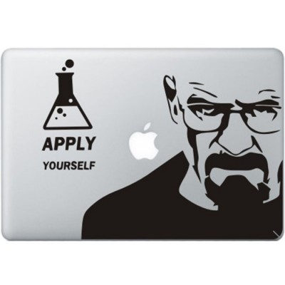 Breaking Bad MacBook Aufkleber Schwarz MacBook Aufkleber