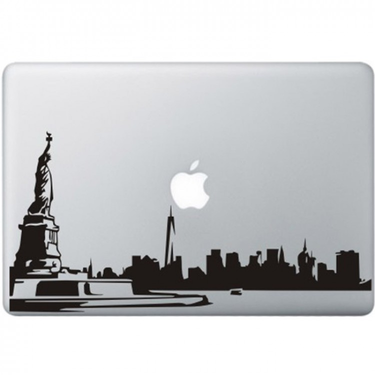 New York City MacBook Aufkleber Schwarz MacBook Aufkleber