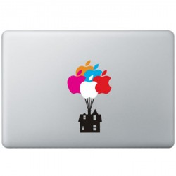 Luftballone Haus UP MacBook Aufkleber