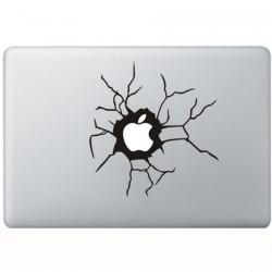 Zerbrochen Apple MacBook  Aufkleber
