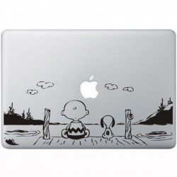 Snoopy en Charlie Brown MacBook Aufkleber