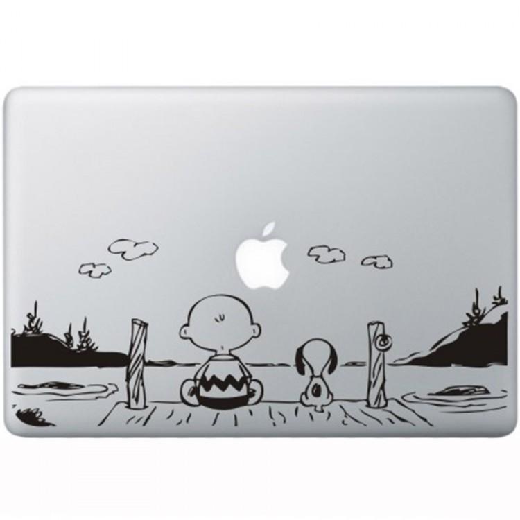 Snoopy en Charlie Brown MacBook Aufkleber Schwarz MacBook Aufkleber