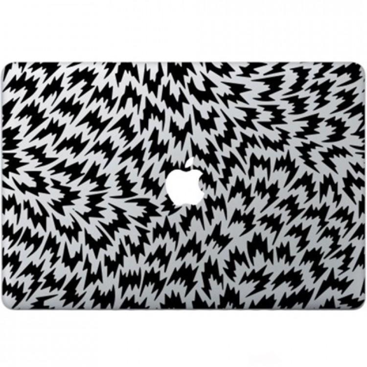 Optische Illusion Macbook  Aufkleber Schwarz MacBook Aufkleber