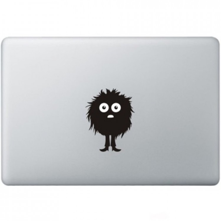 Fuzzy Guy Macbook  Aufkleber Schwarz MacBook Aufkleber