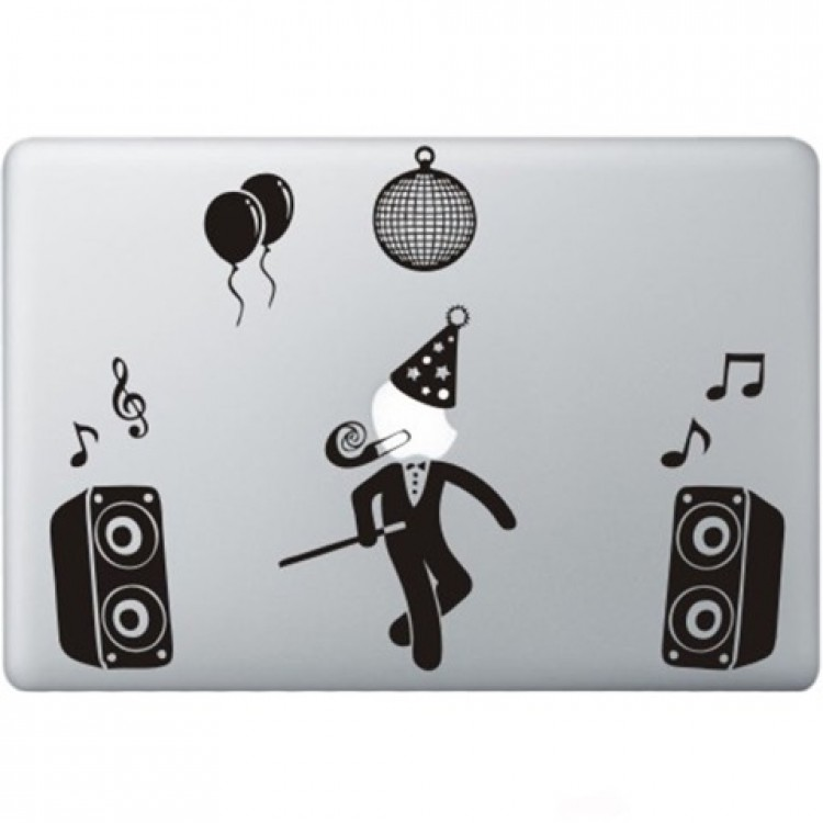 Party Guy  Macbook Aufkleber Schwarz MacBook Aufkleber