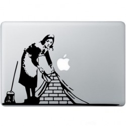 Banksy Dienstmädchen In London Macbook  Aufkleber