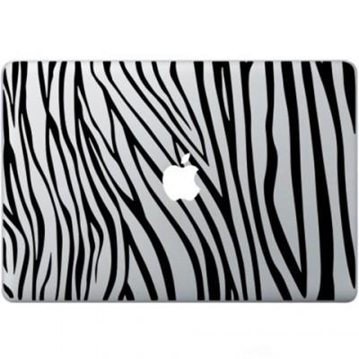 Zebra Ausdruck Macbook Aufkleber