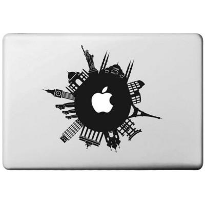 Rund um die Welt Macbook  Aufkleber MacBook Aufkleber