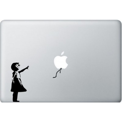 Banksy Girl MacBook Aufkleber