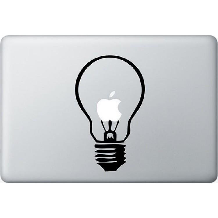 Lampe MacBook  Aufkleber Schwarz MacBook Aufkleber